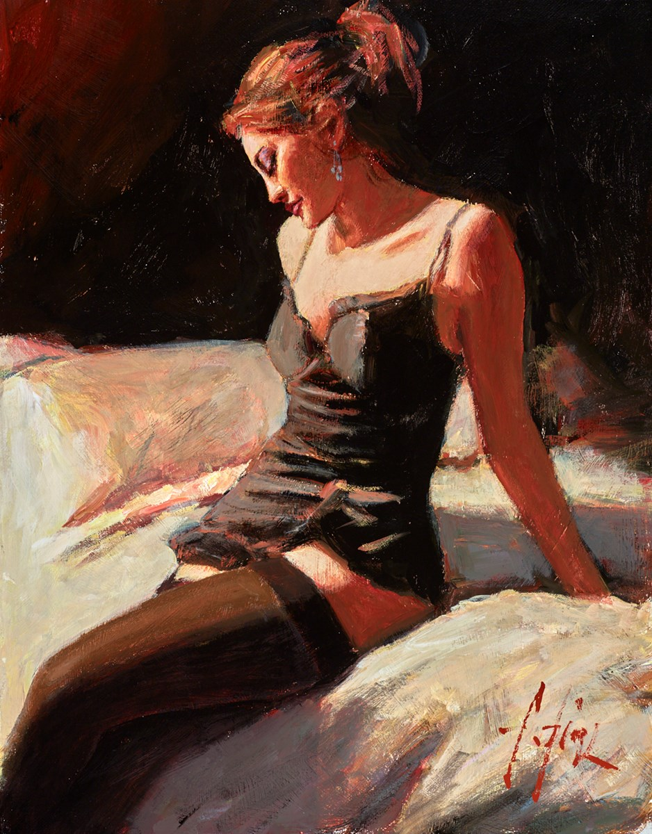 Medias Negras by fabian perez -  sized 14x18 inches. Available from Whitewall Galleries